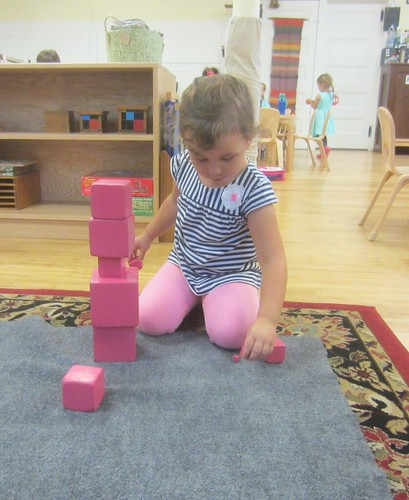 changing up the pink tower