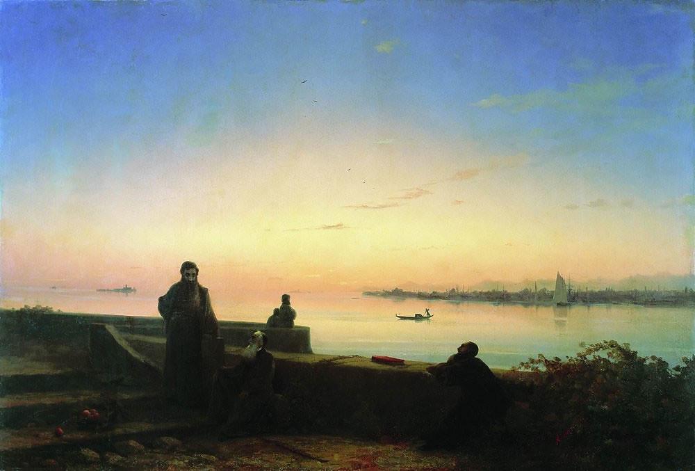 «Мхитаристы на острове св. Лазаря. Венеция». Айвазовский 1843