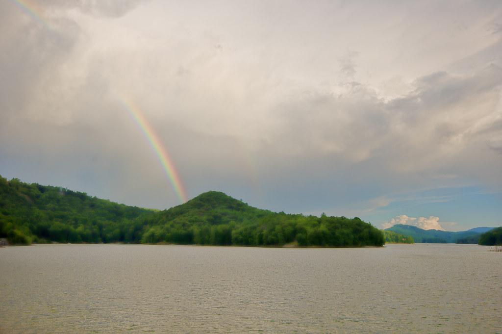 Rainbow over Lake Glenville