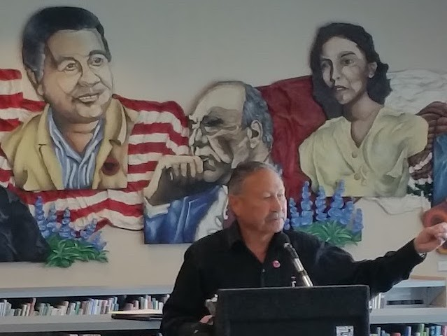 United Farm Workers union President Arturo S. Rodriguez at Las Palmas Branch Library