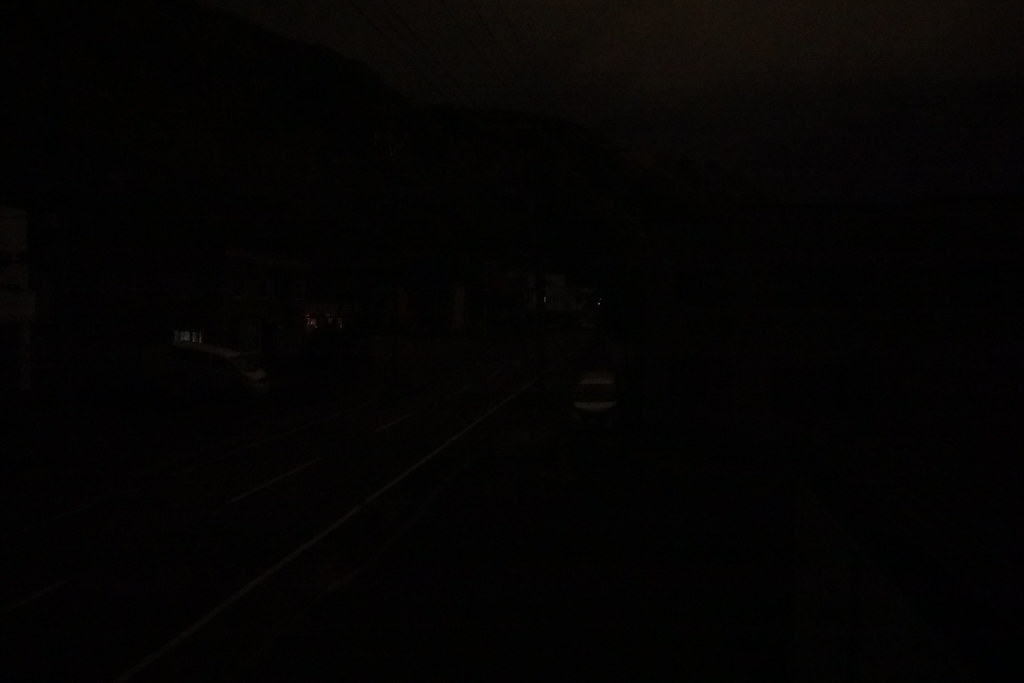 Blackout. It's a view from my window. Even traffic signals are down.