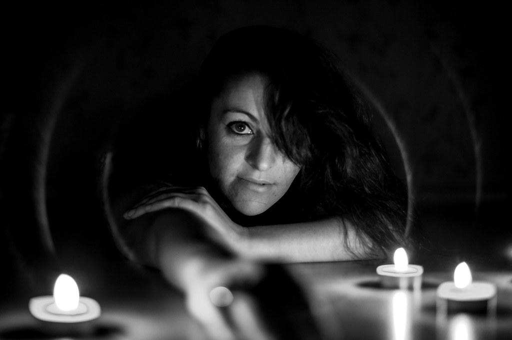 Retrato blanco y negro_Luces y sombras
