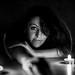 Retrato blanco y negro_Luces y sombras_Vanessa