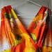 dress hawaiian orange fruit maxi