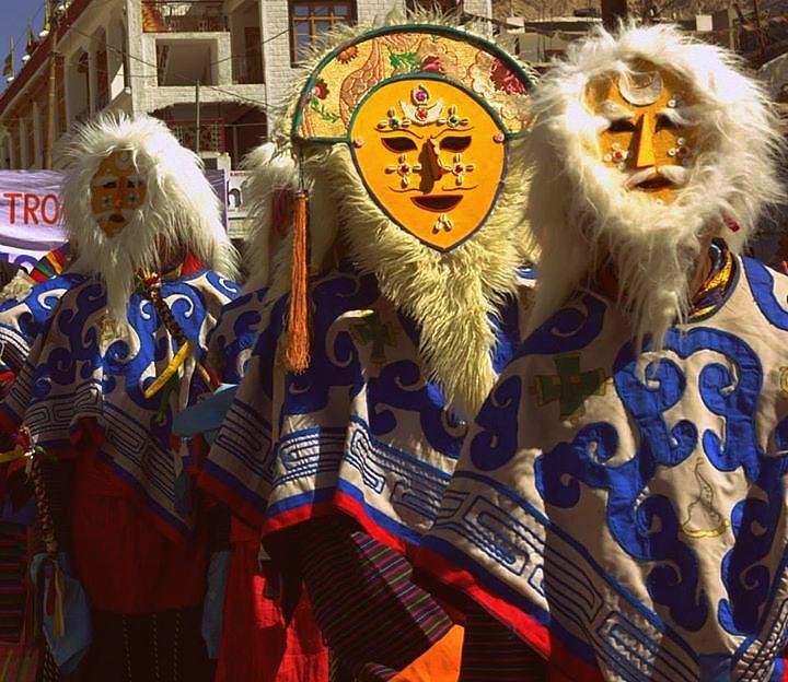 Ladakh festival is famous for masked dances