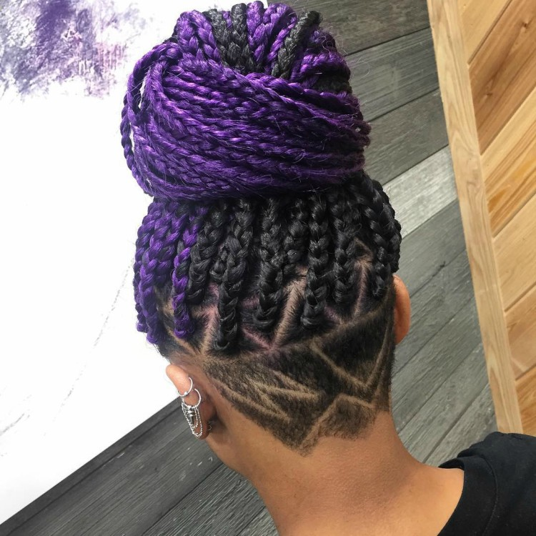 Love this pattern with those purple braids.
