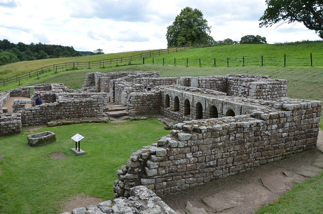 The Baths located outside the fort, considered as the best-preserved Roman military building in Britain, Chesters Roman Fort (Cilurnum), Hadrian's Wall