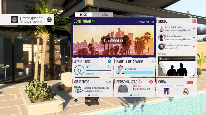 FIFA 18 El Camino (en los menús)