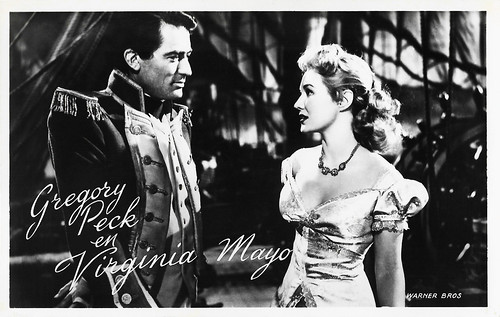 Gregory Peck and Virginia Mayo in Captain Horatio Hornblower R.N. (1951)