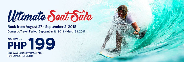 Philippine Airlines Ultimate Seat Sale 2018 - Domestic