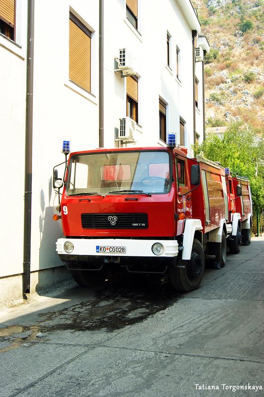 Машина пожарной службы в Которе