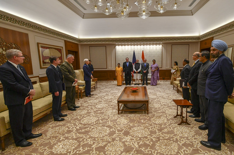 Secretary Pompeo Meets With Indian Prime Minister Modi