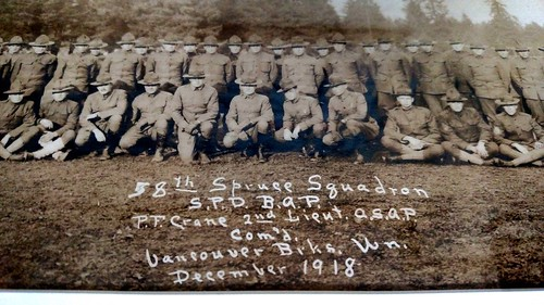 Title Area Detail from Yard-Wide Photo of the 58th Spruce Squadron
