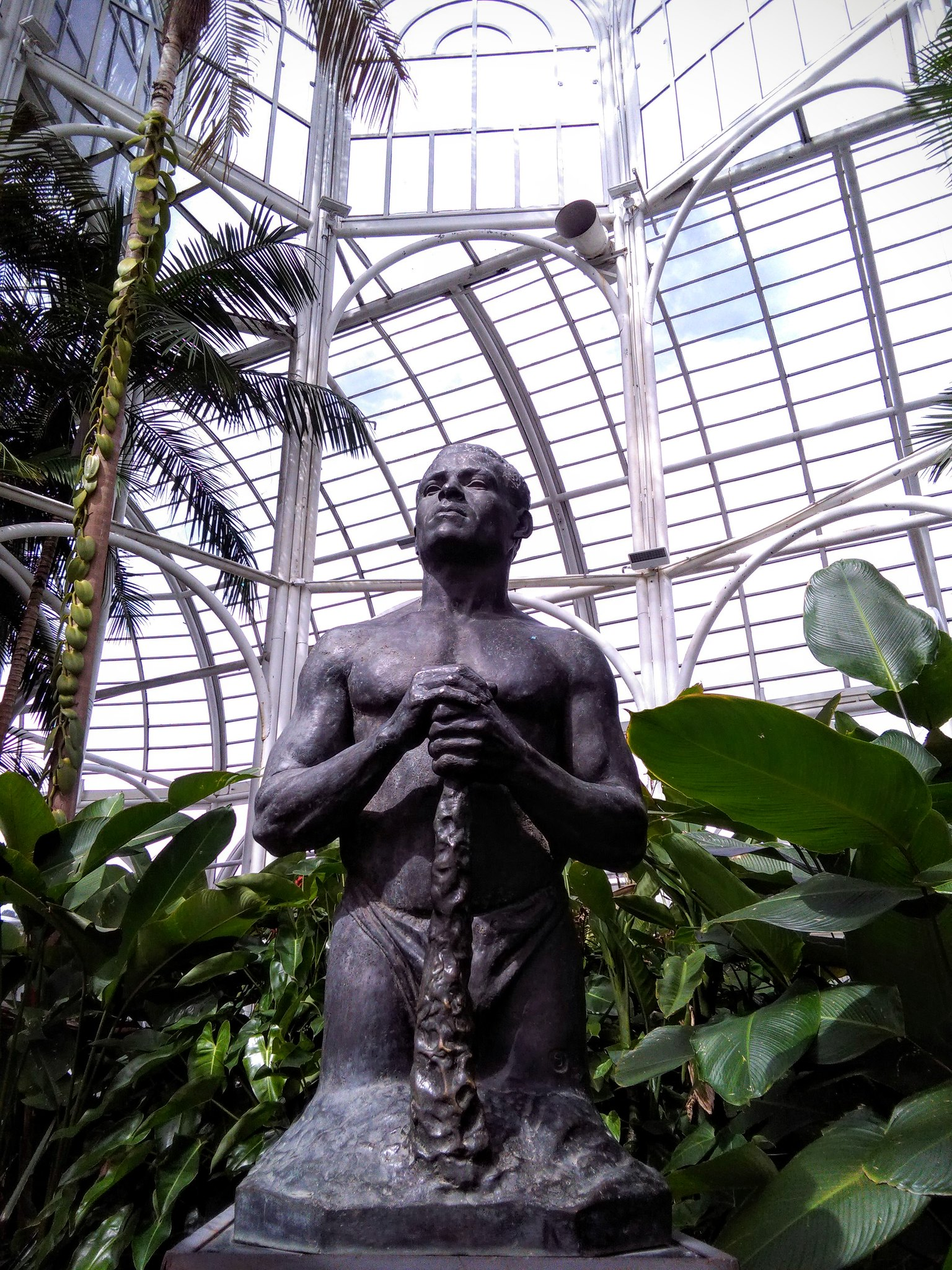 Statue from the botanical gardens