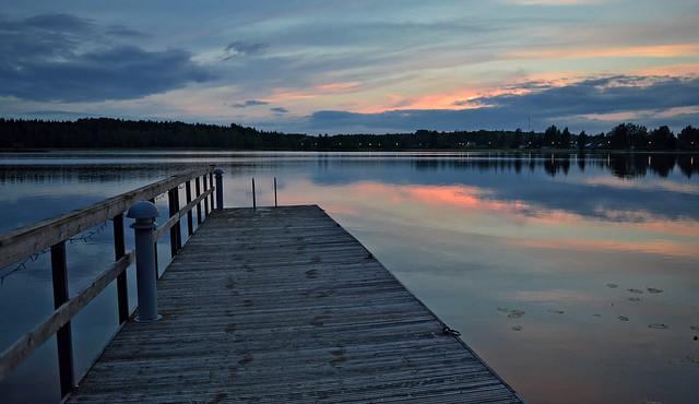 After sunset. Päijänne lake, Finland. Autumn