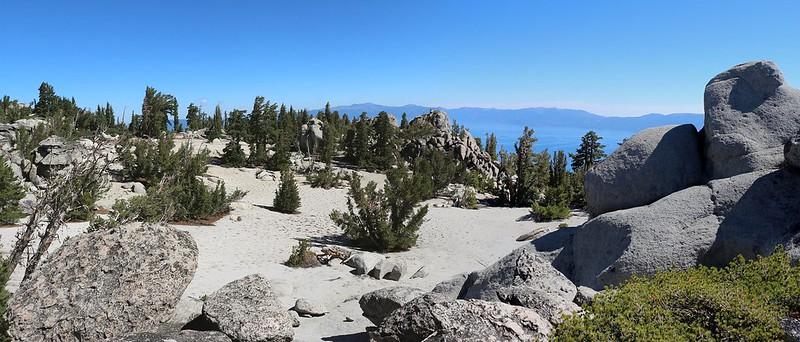 Jakes Peak Summit - We called the flat sandy area Jake's Beach