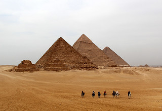 The Pyramids in Winter