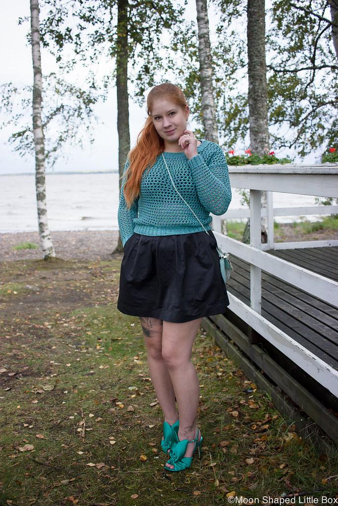 Numph neulepaita, minihame, Parikan kengät, Minna Parikka Blanche- kengät, tyylibloggaaja Joensuu, Joensuu, Koivuniemi, päivän asu