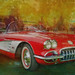 Classic Red Corvette by jta1950