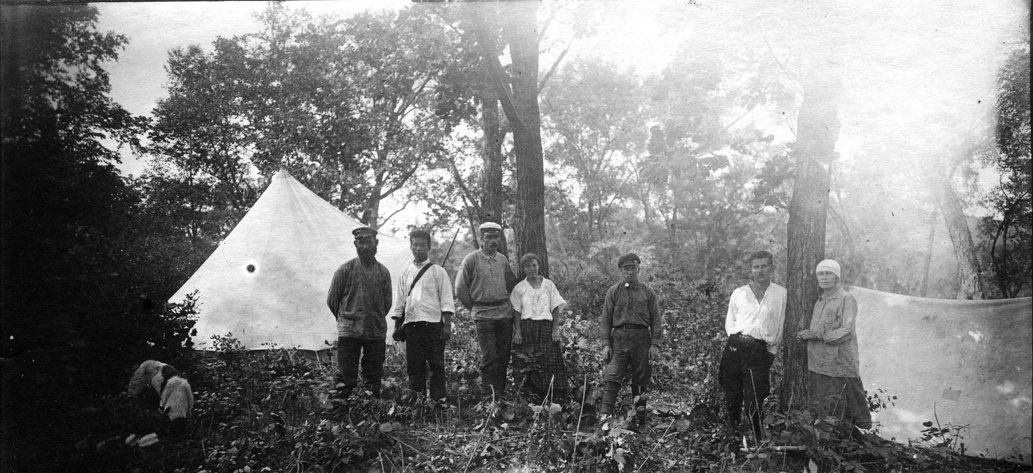 Участники экспедиции в базовом лагере