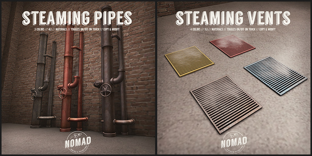 NOMAD // Steaming Pipes & Vents @ SATURDAY SALE - TeleportHub.com Live!