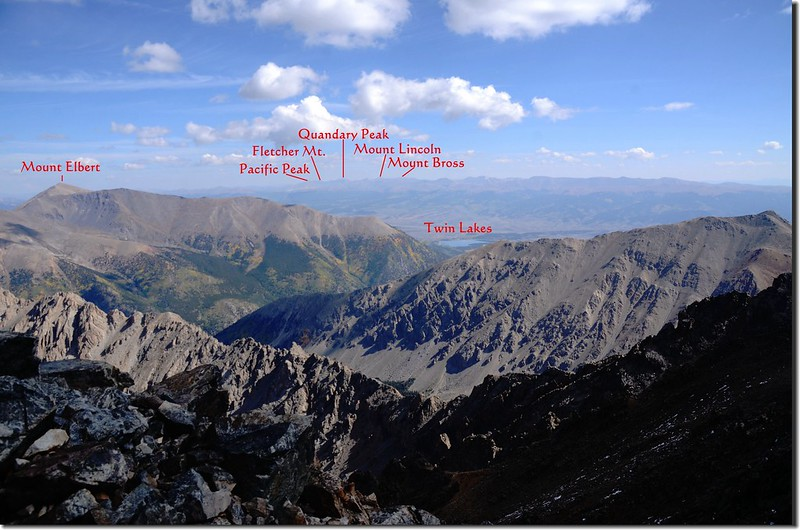 Looking northeast from the summit of La Plata Peak 1-1