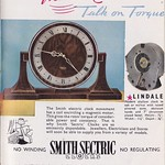 Mon, 2018-09-17 19:37 - As a company Smith's dated back to the 1850s and from making clocks they became involved in the manufacturing of motor accessories in the early 20th century. The electric clock division was specifically set up in 1931 as Smith's Electric Clocks. The trade name Sectric followed in 1937 and for many years the company was a familiar household name. The production of deomestic clocks ceased in 1979.