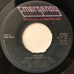 VIN ZEE:FUNKY BEBOP(LABEL SIDE-A)