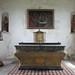 Château de Pirou : l'autel de la chapelle Saint-Laurent