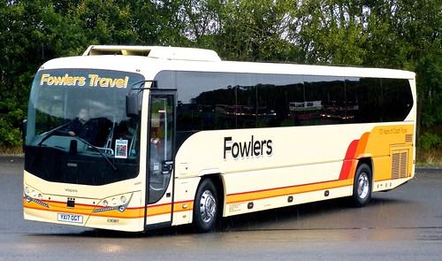 YX17 OGT 'Fowlers', Holbeach Drove, Spalding. Volvo B8R / Plaxton Leopard on Dennis Basford's railsroadsrunways.blogspot.co.uk'