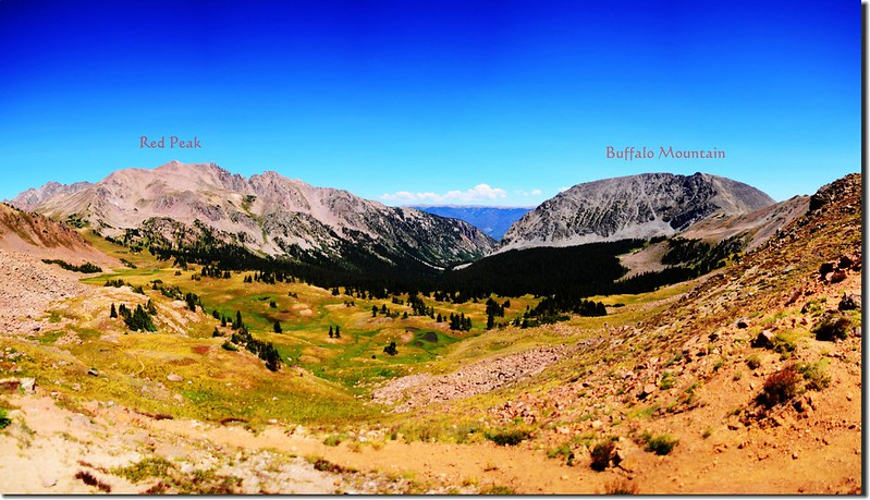 Facing Northeast at Gore Range from Eccles Pass (2)