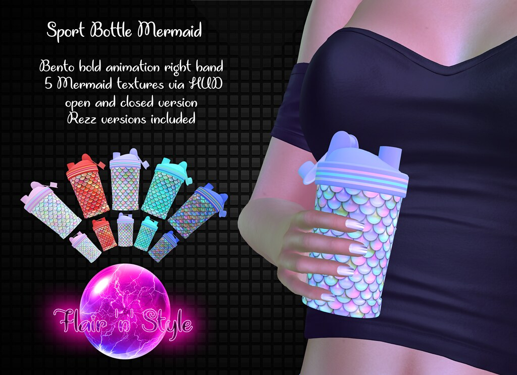 {Flair 'n' Style} Sport Bottle Mermaid