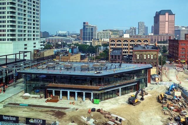 fiserv.forum Entertainment Block construction