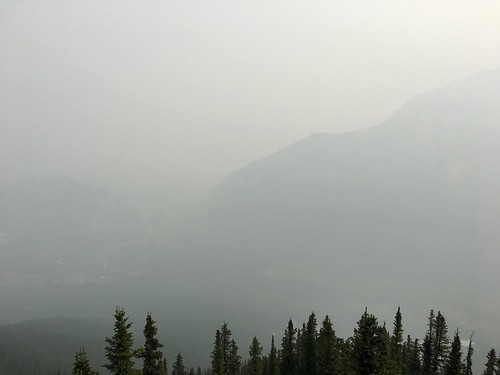 View from the top of Sulphur Mountain