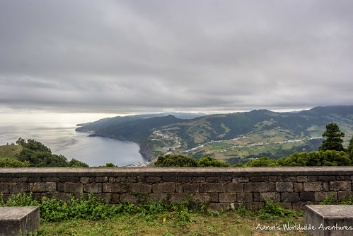 Looking at São Miguel's Southern Coast from a peak in the Southeast