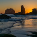 Bandon Beach Sunset by Nancy King Photography