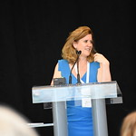Diane Watson is the Chief Executive at the Bureau of Health Information in Australia, shown during her keynote speech.