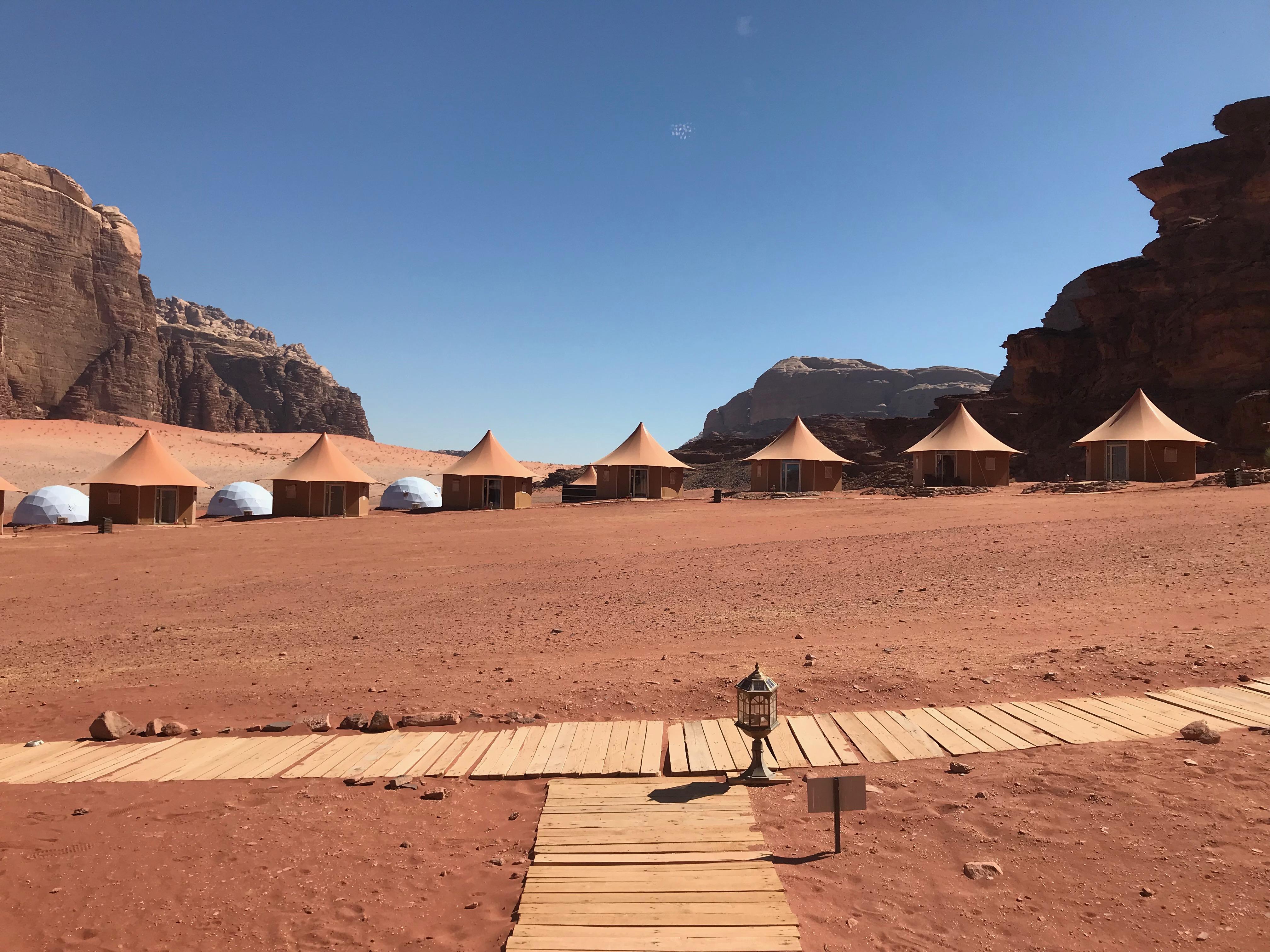 wadi rum - camp
