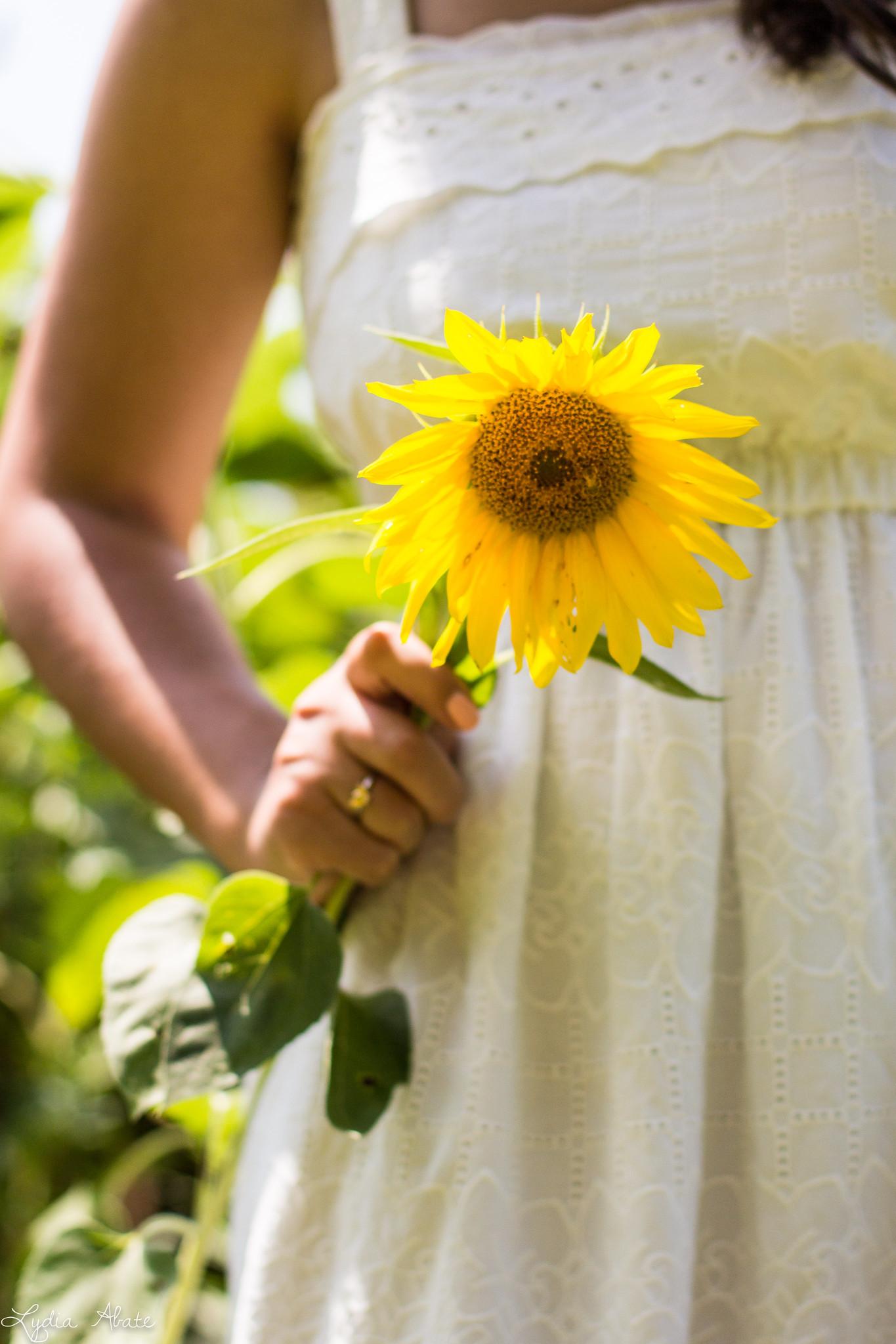 white eyeelt dress, bamboo bag, sunflower field-14.jpg