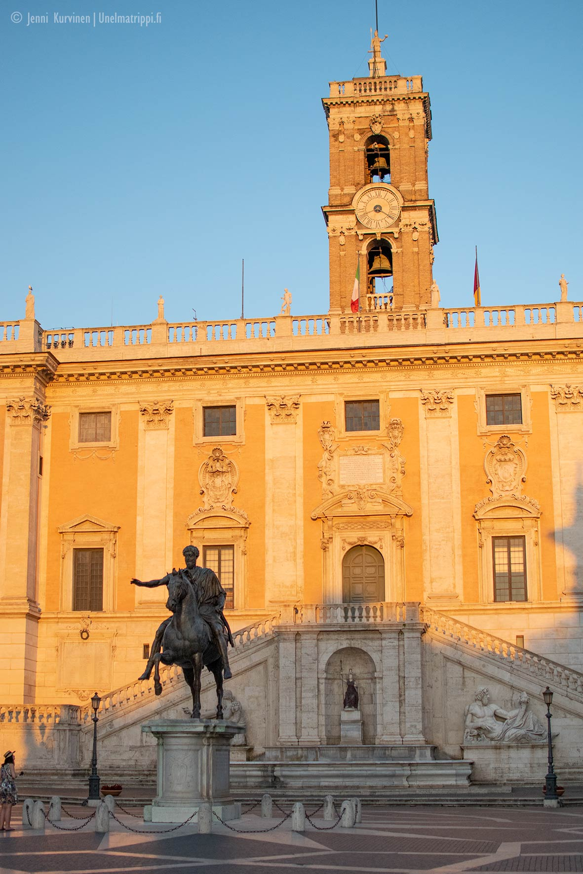 Marcus Aureliuksen ratsastajapatsas Capitoliumin aukiolla