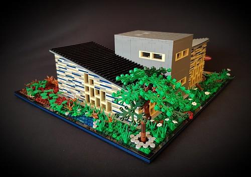 Blue Striped House MOC IV