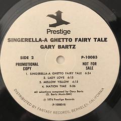 NTU WITH GARY BARTZ:SINGERELLA A GHETTO FAIRY TALE(LABEL SIDE-B)
