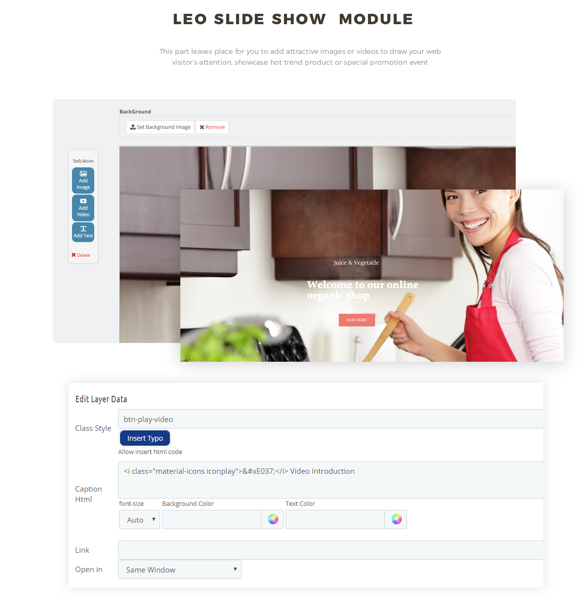 slideshow module - kitchenware retail store websites