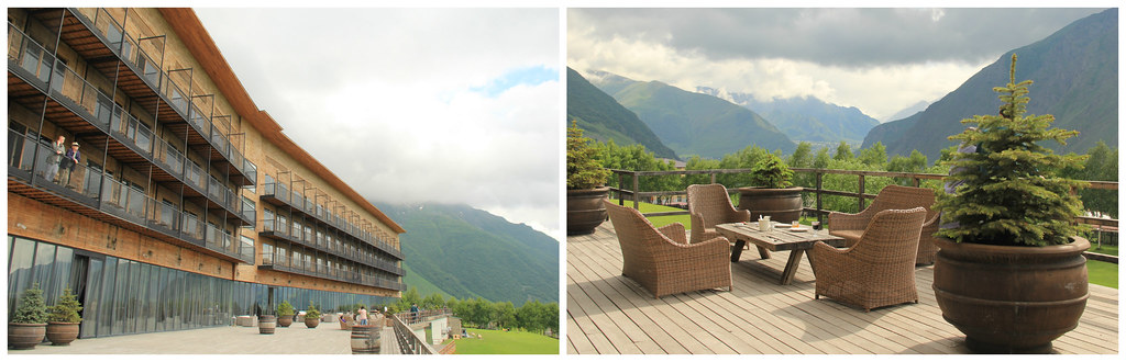 The terrace, Rooms Hotel Kazbegi