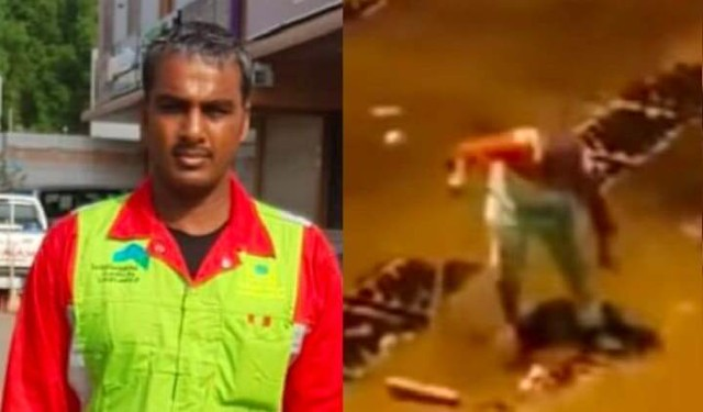 4649 Saudi authorities honored cleaner who worked during Makkah floods 01