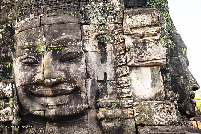 Details of Faces on Towers of Bayon Temple, Angkor, Cambodia-30
