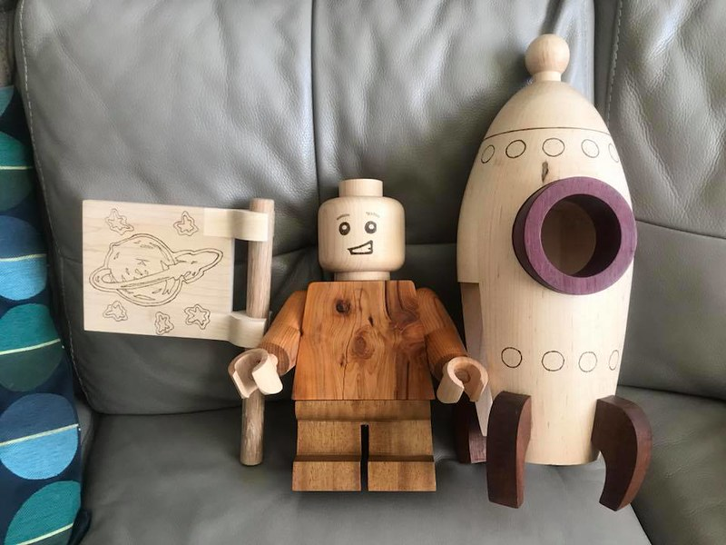 Large Scale Wooden Minifigures