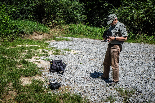 Jim Leavell with Drone at French Broad River-003