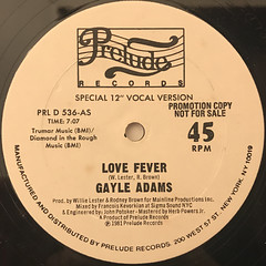 GAYLE ADAMS:LOVE FEVER(LABEL SIDE-A)