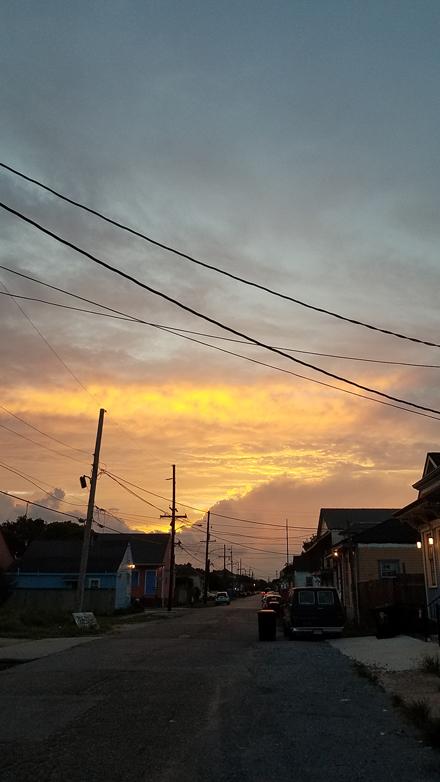 Sunset on Columbus